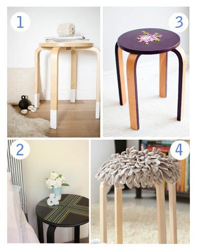 Le tabouret frosta customis bibouchka - Customiser un tabouret ...